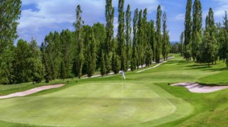 Golf and the city of Bologna in Italy